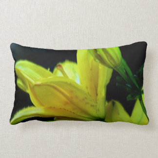 Yellow Lily with Wind Effect by Shirley Taylor Lumbar Pillow