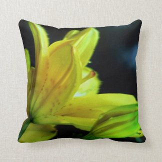 Yellow Lily with Wind Effect by Shirley Taylor Throw Pillow