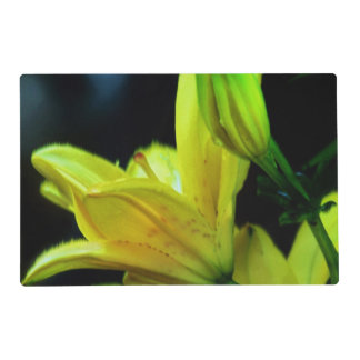 Yellow Lily With Wind Effect Placemat