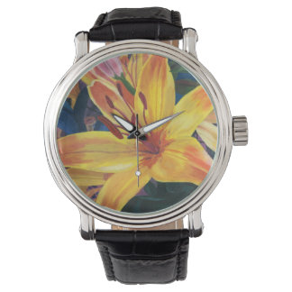 Yellow Lily Wrist Watches