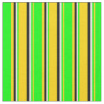 [ Thumbnail: Yellow, Lime, Beige, and Black Colored Lines Fabric ]