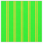 [ Thumbnail: Yellow & Lime Colored Lines Fabric ]