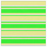 [ Thumbnail: Yellow, Lime & Light Yellow Lines Pattern Fabric ]
