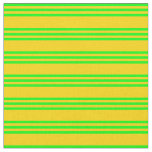 [ Thumbnail: Yellow & Lime Lined Pattern Fabric ]
