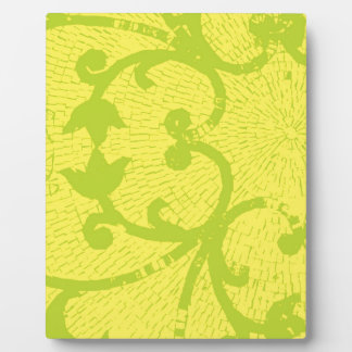 YELLOW & LIME MOSAIC PLAQUE