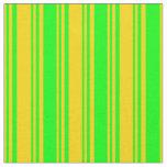 [ Thumbnail: Yellow & Lime Pattern Fabric ]