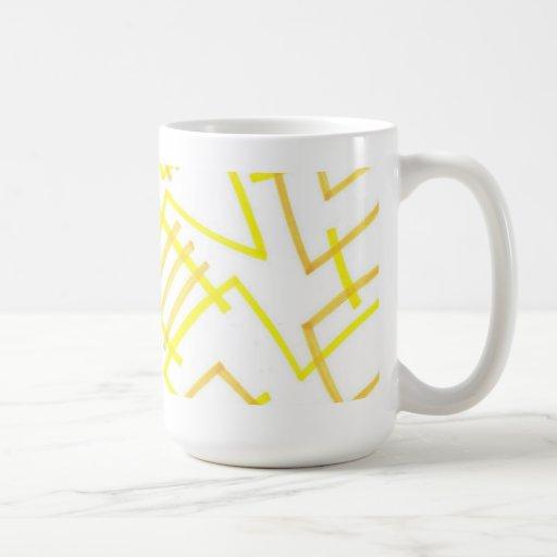 Yellow Line Coffee Mug