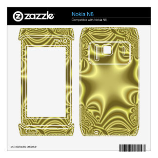 Yellow line cross pattern skin for the nokia n8