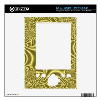 Yellow line cross pattern sony reader decals