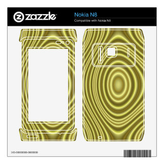 Yellow Line Pattern Skin For The Nokia N8