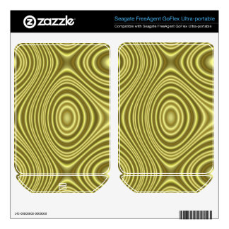 Yellow Line Pattern Skin For FreeAgent GoFlex