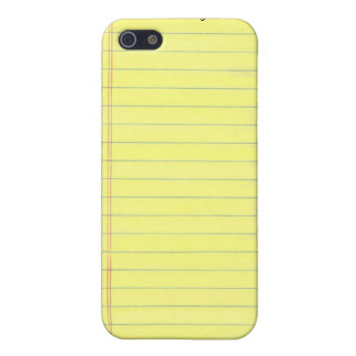 Yellow Lined Paper iPhone 5 Covers