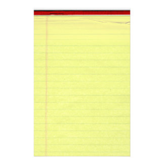 Yellow Lined School Paper Background