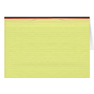 Yellow Lined School Paper Background Card