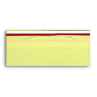 Yellow Lined School Paper Background Envelopes