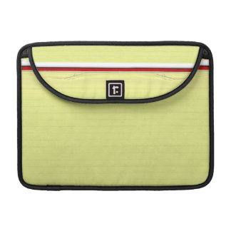 Yellow Lined School Paper Background Sleeves For MacBooks