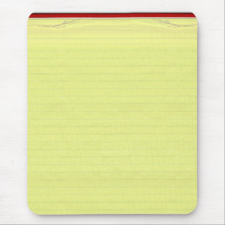 Yellow Lined School Paper Background Mouse Pad