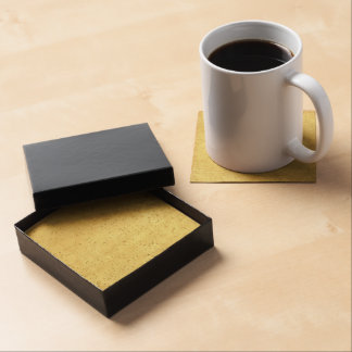 Yellow Lined School Paper Background Beverage Coasters