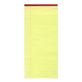 Yellow Lined School Paper Background Rack Card
