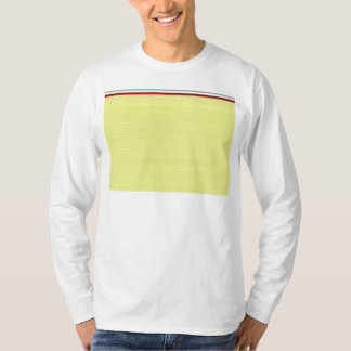 Yellow Lined School Paper Background T-Shirt