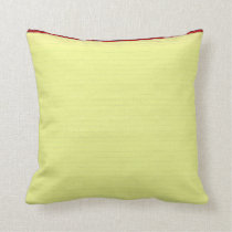 Yellow Lined School Paper Background Throw Pillow