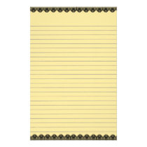 Yellow Lined Stationery
