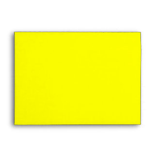 Yellow Lined with Black and White Stripes Envelope