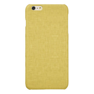 Yellow Linen Glossy iPhone 6 Plus Case