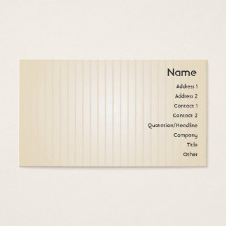 Yellow Lines - Business Business Card