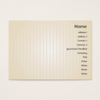 Yellow Lines - Chubby Business Card