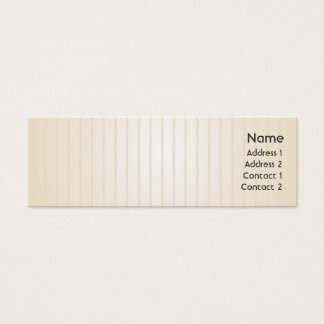 Yellow Lines - Skinny Mini Business Card
