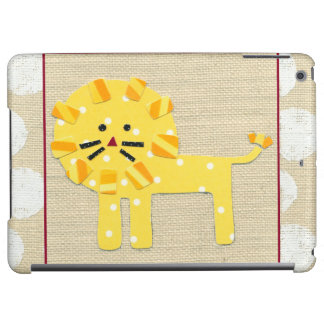 Yellow Lion with White Polka Dots iPad Air Cover