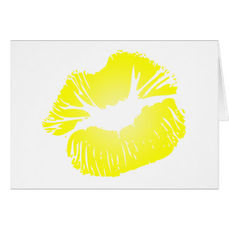 Yellow Lips Card