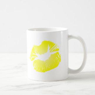 Yellow Lips Classic White Coffee Mug
