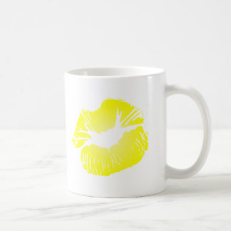 Yellow Lips Coffee Mug