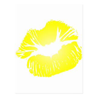 Yellow Lips Postcard
