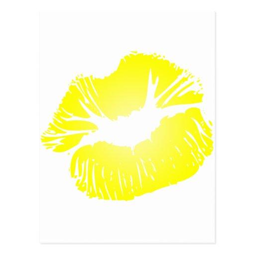 Yellow Lips Postcard