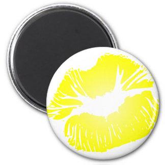 Yellow Lips Refrigerator Magnets