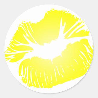 Yellow Lips Sticker