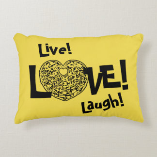 YELLOW Live! Laugh! LOVE! Sweetie❤ Accent Pillow