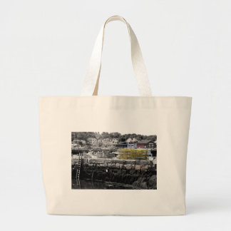 Yellow Lobster Pots Large Tote Bag