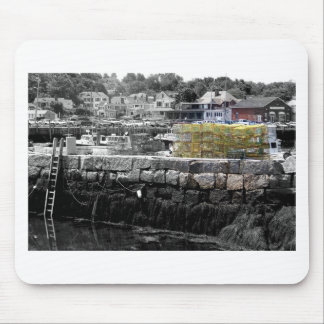 Yellow Lobster Pots Mouse Pad
