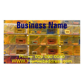 Yellow Lobster Traps In Maine Business Card