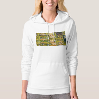 Yellow Lobster Traps stacked on Dock Hoodie