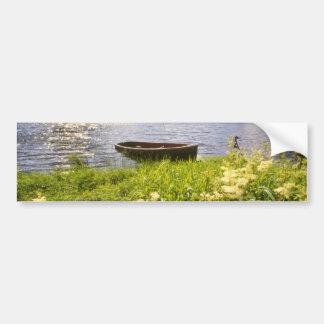 yellow Loch Ard, Trossachs flowers Car Bumper Sticker