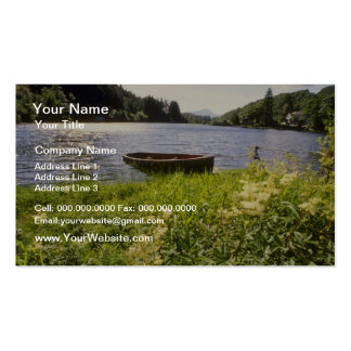 yellow Loch Ard, Trossachs flowers Double-Sided Standard Business Cards (Pack Of 100)