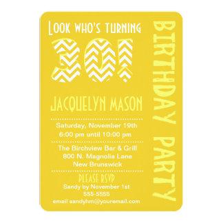 Yellow Look Who's Turning 30 Birthday Invitation