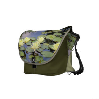 """Yellow Lotus Blossoms"" Rickshaw Messenger Bag"