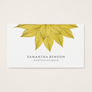 Yellow Lotus Flower | Floral Watercolor Business Card