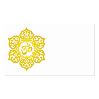 Yellow Lotus Flower Om Double-Sided Standard Business Cards (Pack Of 100)